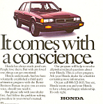 Click here to enlarge image and see more about item ad0515: Honda 1984 Ad