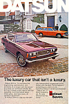 Click here to enlarge image and see more about item ad0524: Datsun 610 1974 Ad ad0524