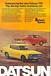 Click here to enlarge image and see more about item ad0525: Datsun 710 1974 Ad ad0525