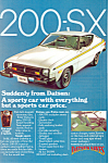 Click here to enlarge image and see more about item ad0528: Datsun 200 SX Ad ad0528