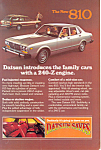 Click here to enlarge image and see more about item ad0529: Datsun The New 810 Ad