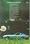 Click here to enlarge image and see more about item ad0530: Datsun Sets You Free Ad ad0530