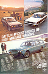 Click here to enlarge image and see more about item ad0533: Datsun Wagons Full Line  Ad ad0533
