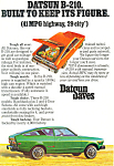 Click here to enlarge image and see more about item ad0535: Datsun B-210   Ad ad0535