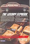 Click here to enlarge image and see more about item ad0537: Nissan Maxima 1984   Ad ad0537