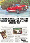 Click here to enlarge image and see more about item ad0539: Datsun 710  Ad ad0539
