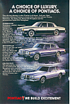Click here to enlarge image and see more about item ad0540: Pontiac  Ad 1983 ad0540