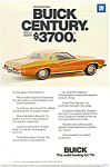 Click here to enlarge image and see more about item ad0542: Buick Century  Ad 1972