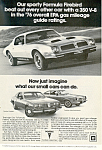 Click here to enlarge image and see more about item ad0543: Pontiac Formula Firebird  Ad 1976