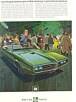 Click here to enlarge image and see more about item ad0550: Pontiac Firebird Convertible Ad 1968