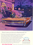 Click here to enlarge image and see more about item ad0551: Pontiac Bonneville Convertible Ad 1960