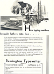 Click here to enlarge image and see more about item ad0553: Remington Typewriter  Ad ad0553