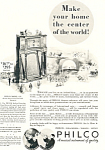 Click here to enlarge image and see more about item ad0554: Old Time Philco Radio   Ad