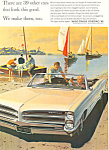 Click here to enlarge image and see more about item ad0556: Pontiac Convertible   Ad 1965