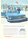 Click here to enlarge image and see more about item ad0560: Pontiac Bonneville Convertible Ad 1960