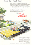 Click here to enlarge image and see more about item ad0564: Pontiac Convertible Ad 1956