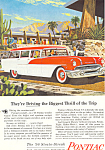 Click here to enlarge image and see more about item ad0565: Pontiac Wagon Ad 1956 ad0565