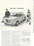 Click here to enlarge image and see more about item ad0571: MG Sports Sedan Graham Hill Ad 1966