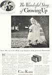 Click here to enlarge image and see more about item ad0579: Cine Kodak Model K Camera Ad 1932
