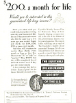 Click here to enlarge image and see more about item ad0580: Equitable Life Assurance Society Ad 1932