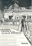 Click here to enlarge image and see more about item ad0587: French Line Life Aboard the SS France Ad
