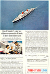 United States Lines SS America Ad
