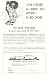 Holland American Line Around the World Ad 1964