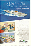 Click here to enlarge image and see more about item ad0599: Delta Line to Brazil  Argentina Cruises Ad ad0599