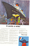French Line Sailing to Europe Ad