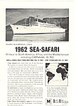 Moore Mccormick Lines Sea Safari Ad 1962