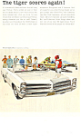 Click here to enlarge image and see more about item ad0607: 1966 Pontiac 2+2 Convertible Ad