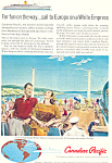 Click here to enlarge image and see more about item ad0609: Canadian Pacific White Empress to Europe Ad ad0609