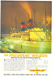 SS President Wilson to The Orient Ad ad0611