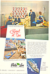 Click here to enlarge image and see more about item ad0612: Resort at Sea Delta Line Ad ad0612