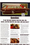 Click here to enlarge image and see more about item ad0643: Dodge Coronet Wagon AD ad0643