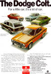Click here to enlarge image and see more about item ad0644: 1974 Dodge Colt Full Iine  Ad ad0644