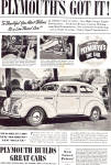 Click here to enlarge image and see more about item ad0650: Plymouth Roadking Two-Door Touring Sedan and De Luxe