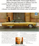 Click here to enlarge image and see more about item ad0725: 1973 Oldsmobile Ninety Eight Regency ad0725