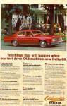 Click here to enlarge image and see more about item ad0730: 1977 Delta 88 Royale Town Sedan