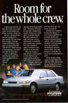Click here to enlarge image and see more about item ad0737: 1989 Hyundai Sonata ad0737