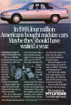 Click here to enlarge image and see more about item ad0738: 1989 Hyundai Sonata