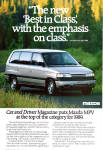 Click here to enlarge image and see more about item ad0741: Mazda 1989 MPV ad0741