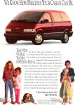 Click here to enlarge image and see more about item ad0752: 1991 Toyota Previa ad0752