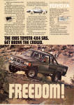 Click here to enlarge image and see more about item ad0757: 1985 Toyota SR 5 4X4 ad0757