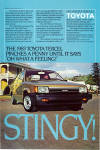 Click here to enlarge image and see more about item ad0763: 1983 Toyota Tercel ad0763