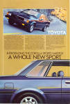Click here to enlarge image and see more about item ad0768: 1981 1 2 Toyota Corolla Sports Hardtop ad0768