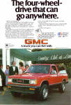 Click here to enlarge image and see more about item ad0775: 1984 GMC S-15 4 wheel drive Jimmy