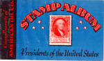 Click here to enlarge image and see more about item ad0795: American Oil Company Stamp Album of US Presidents ad0795