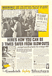 Click here to enlarge image and see more about item adl0006: Goodrich Safety Silvertown Tires Ad