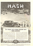 Click here to enlarge image and see more about item adl0009: Nash 4-Door Sedan Ad 1934